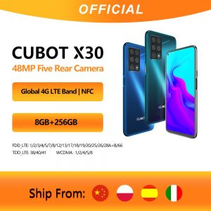 """Cubot X30 Cellphone Global Version 48MP Five Camera 32MP Selfie 8GB 256GB NFC 6.4"""" Fullview Display Android 10 Celular 4G LTE"""
