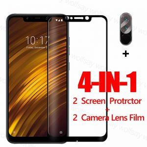 Full Glue Screen Protector For Xiaomi Pocophone F1 Glass For Poco M3 X3 F2 M2 Pro Tempered Glass Protective Phone Film Poco F1