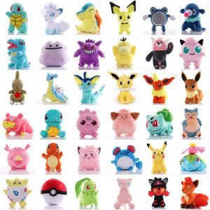 41 Style Pokemoned plush doll Pikachued stuffed toy Charmander Squirtle Bulbasaur Jigglypuff Eevee Snorlax Lapras kids gift